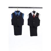 Angels Garment Blue 4 Piece Pin Striped Vest Set Boys Suit 3T
