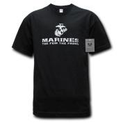 Rapiddominance The Few Military Graphics T-Shirt, Black, Large