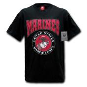 Rapiddominance Marines Classic Military T-Shirt, Black, Small