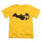 Batman Baby-boys 75 Logo Childrens T-shirt 7 Boy Yellow