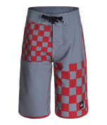 Quiksilver Boys Quad Chequered Swim Bottom Board Shorts quikred 23