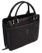 Bible Cover - Croc Embossed Purse Style-LRG-Blk