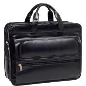 McKlein USA P Series Elston Leather Double Compartment Laptop Case