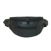 CTM Kids Leather 3 Zippers Small Fanny Waist Pack