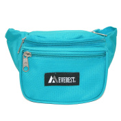 Everest Unisex Durable Polyester Fabric Waist Pack (Pack of 5), Turquoise