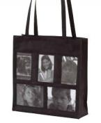 Joann Marie Designs NPH5PBL 5-Pocket Photo Tote - Black Pack of 2