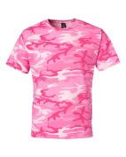 Code V - Camouflage Short Sleeve T-Shirt, Pink L