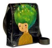 Messenger Bag Grow Your Imagination 12x11x3 Blue Q 1 Bag