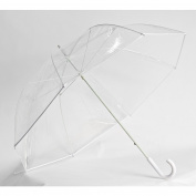 Clear Golf Umbrella, White Trim