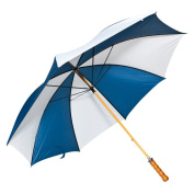 Elite Rain Adult Wooden Shaft Golf Umbrella One Size Navy and White