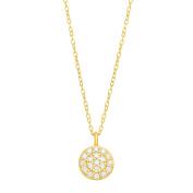 1/10 ct Diamond Circle Pendant in 14K Gold