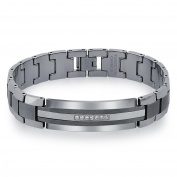 Men's Diamond Tungsten Carbide ID Bracelet