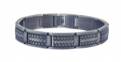 Men's Weave Bracelet in Grey Stainless Steel