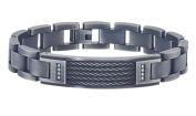 Men's Diamond ID Bracelet in Stainless Steel