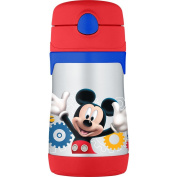 THERMOS Vacuum Insulated Stainless Steel 300ml Straw Bottle, Mickey Mouse Clubhouse