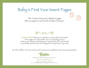 Tessera Baby Books Baby Memory Book Insert Pack, Baby's First Year, Month by Month