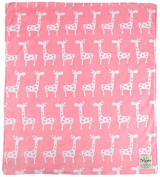My Blankee Dolce Vita Giraffa Minky Throw Blanket, 130cm X 150cm , Pink
