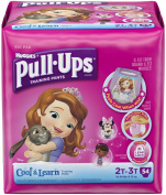 Huggies Pull-Ups Cool & Learn- Girls - 2T-3T - 54 ct