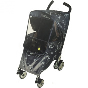 Hippo Collection Universal Stroller Weather Shield - Dark Grey One Size