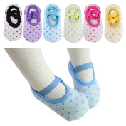 Baby 6 Pairs Anti-slip Foot Socks for 8 - 36 Months Infants and Toddlers