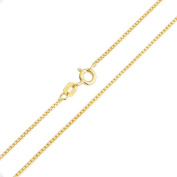 Bling Jewellery Gold Plated 925 Sterling Silver Unisex Box Link Chain Necklace 19 Gauge Italy