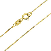 Bling Jewellery Thin Box Chain Sterling Silver Gold Plated Italy 10 Gauge