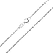 Bling Jewellery 925 Sterling Silver Diamond Cut Unisex Rope Chain Necklace 40 Gauge Italy