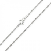 Bling Jewellery 2mm Sterling Silver Singapore Chain Necklace, 16 inch