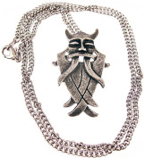 `Mask Of Odin` Pewter Pendant / Necklace Norse