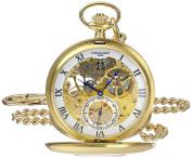 Charles-Hubert, Paris 3972-G Premium Collection Analogue Display Mechanical Hand Wind Pocket Watch