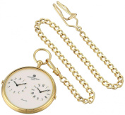Charles-Hubert, Paris 3970-G Classic Collection Analogue Display Quartz Pocket Watch