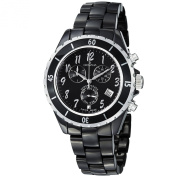 Grovana Chronograph Black Dial Black Ceramic Ladies Watch 4001.9187
