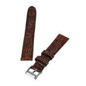Brentwood Havana 16 mm Wide Genuine Lizard Leather Band