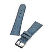 Brentwood Light Blue 24 mm Genuine Alligator Leather Band