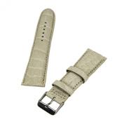 Brentwood Beige 24 mm Wide Genuine Alligator Leather Band
