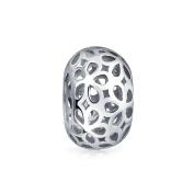Bling Jewellery Sterling Silver Filigree Flower Bead Fits Pandora Charm