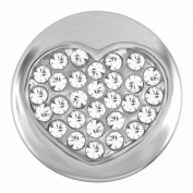 Ginger Snaps Petite Heart Of Clear Stones Snap GP01-02