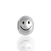 Bling Jewellery Smiley Face 925 Sterling Silver Barrel Charm Bead Fits Pandora