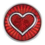 Ginger Snaps Petite Enamel Red Heart Snap GP01-05