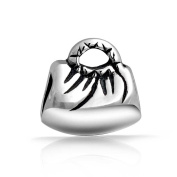 Bling Jewellery Sterling Silver Purse Charm Bead Compatible Pandora Charm Beads