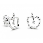 Bling Jewellery Children Open Apple Stud Earrings 925 Sterling Silver