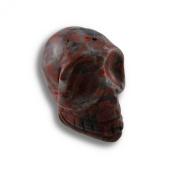 Beautiful Carved Brecciated Jasper Gemstone Skull 25mm 1 Inch