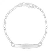 Silver Plated Identification Tag ID Bracelet Newborn Baby Jewellery Birth Gift Kids 13cm