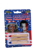 Bloody Mary All American Face Paint Crayons Kit, Red/White/Blue