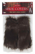 Brown Hairy Monster Shoe Covers Adult Costume Accessory One Size