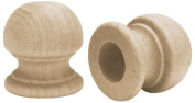 Wood Turning Shapes-Ball Finial Dowel Cap 2.5cm x 3cm 2/Pkg