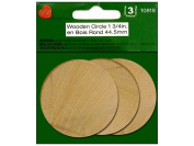 Wood Turning Shapes-Circle 2.5cm - 1.9cm x 0.5cm 3/Pkg
