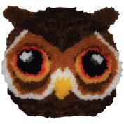 M C G Textiles Huggables Owl Pillow Latch Hook Kit, 30cm by 30cm Multi-Coloured