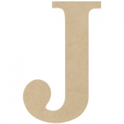MDF Classic Font Wood Letters & Numbers 24cm -Letter J