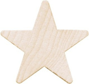 Wood Turning Shapes-Large Star 5.1cm - 0.6cm x 5.7cm X1/10cm 2/Pkg